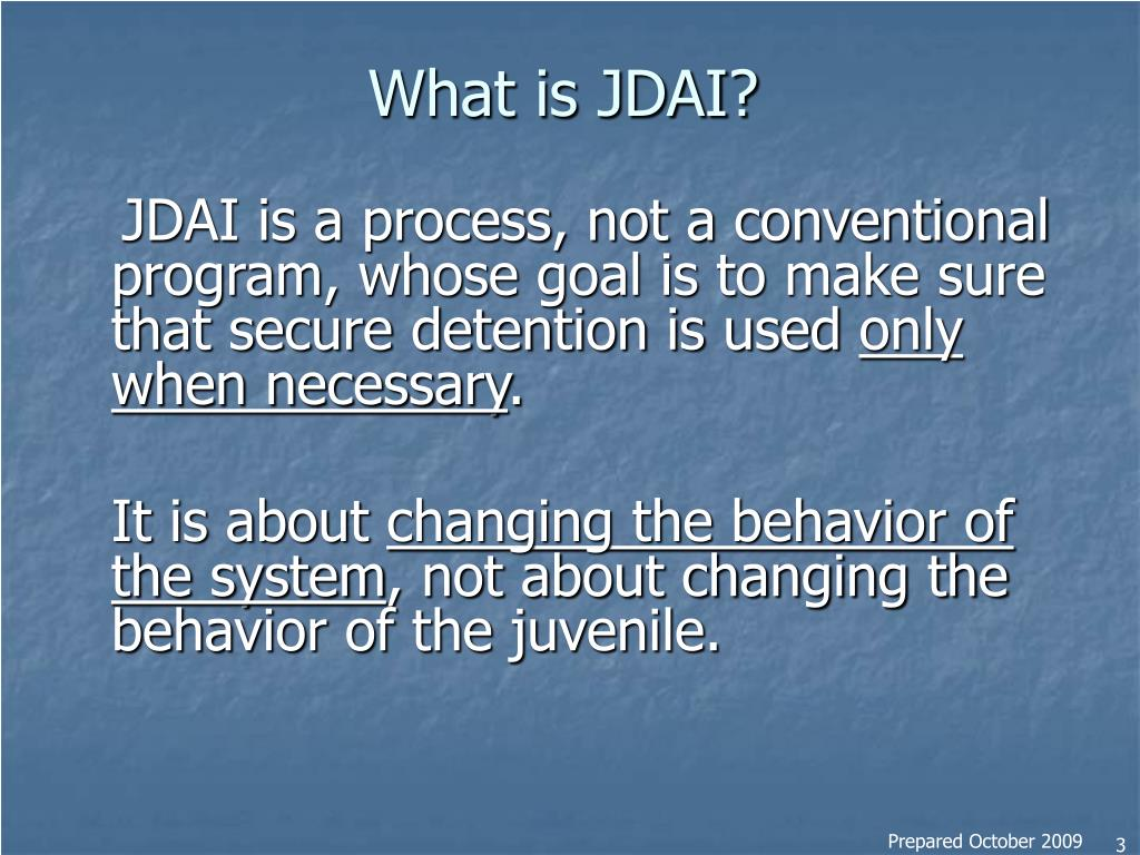 What is JDAI?
