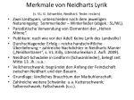 merkmale von neidharts lyrik s vl g schweikle neidhart texte reclam
