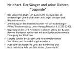 neidhart der s nger und seine dichter legende