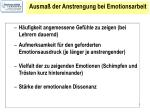 ausma der anstrengung bei emotionsarbeit