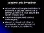 vendimet mbi investimin