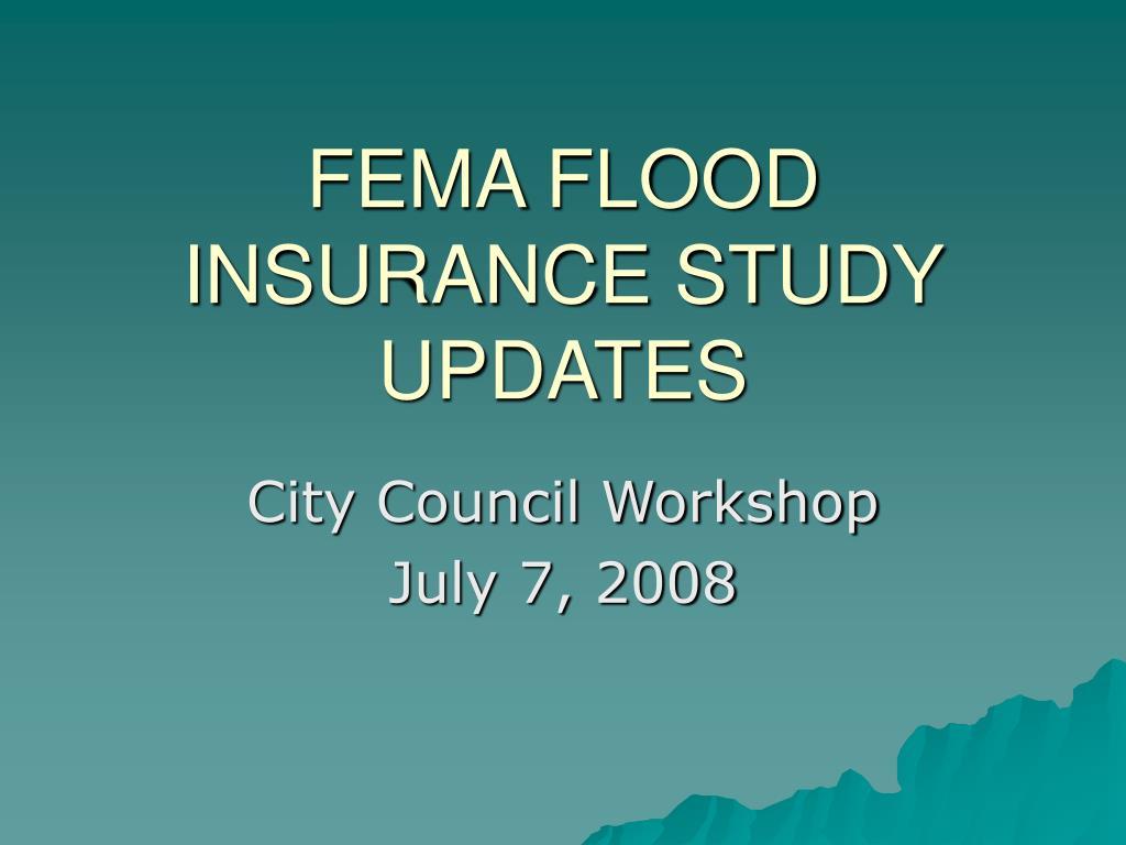 fema flood insurance study updates l.