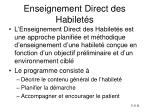 enseignement direct des habilet s