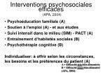 interventions psychosociales efficaces apa 2004