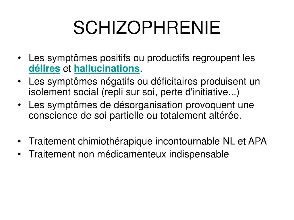 schizophrenie l.
