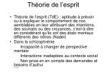 th orie de l esprit