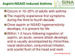 aspirin nsaid induced asthma