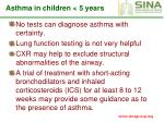asthma in children 5 years29