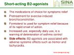 short acting b2 agonists