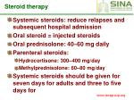steroid therapy