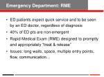 emergency department rme