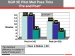sgh 5e pilot med pass time pre and post