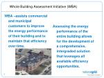 whole building assessment initiative wba