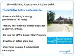 whole building assessment initiative wba3