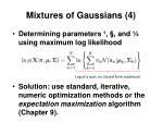 mixtures of gaussians 4