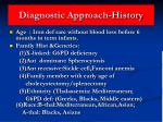 diagnostic approach history