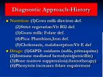 diagnostic approach history34