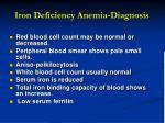 iron deficiency anemia diagnosis