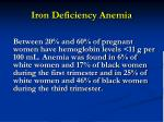 iron deficiency anemia47