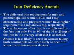 iron deficiency anemia49