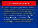 the normocytic anemias31