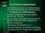 clausulas ordinarias