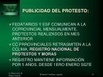 publicidad del protesto