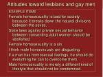 attitudes toward lesbians and gay men