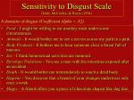 sensitivity to disgust scale haidt mccauley rozin 1994