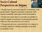socio cultural perspectives on stigma
