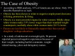 the case of obesity