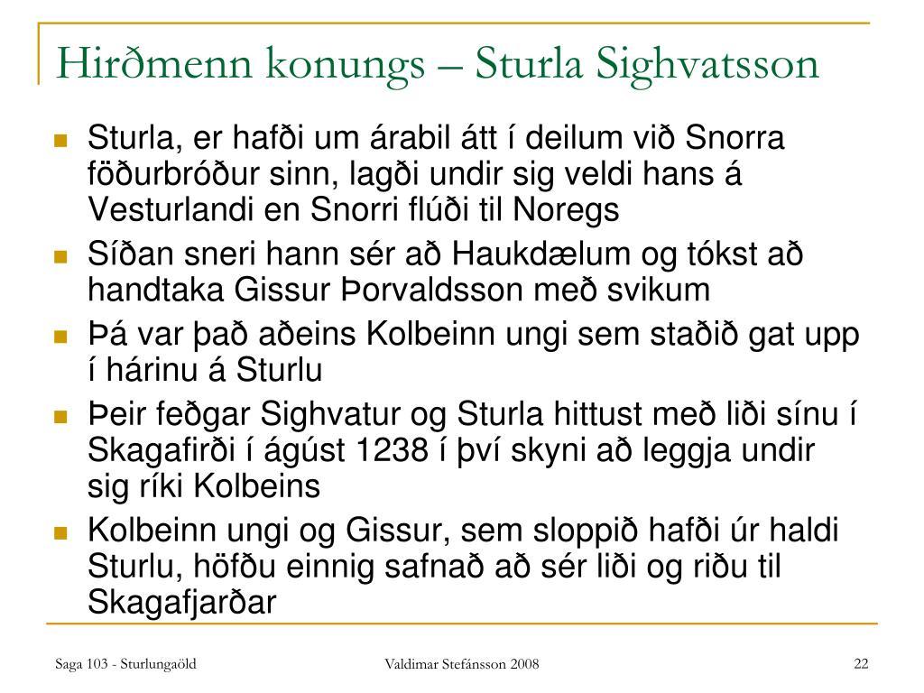 Hirðmenn konungs – Sturla Sighvatsson