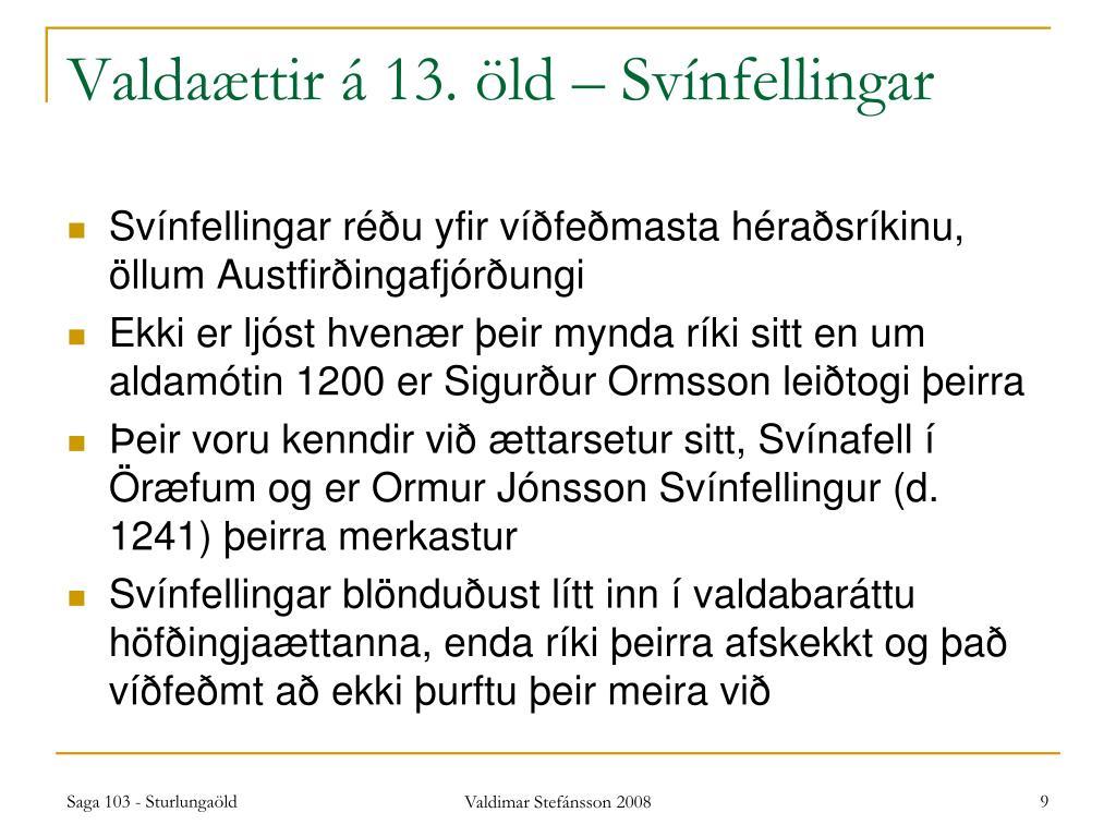Valdaættir á 13. öld – Svínfellingar