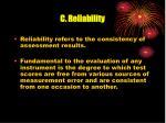 c reliability