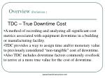 tdc true downtime cost