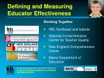 defining and measuring educator effectiveness7