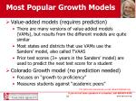 most popular growth models