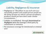 liability negligence insurance