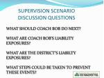 supervision scenario discussion questions