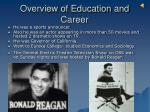 overview of education and career