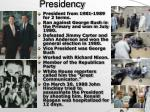 overview of presidency