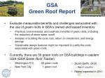 gsa green roof report