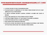 four season restaurant seagram building n y 1959