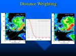 distance weighting