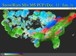snow rain mix ms pcp dec 11 jan 1