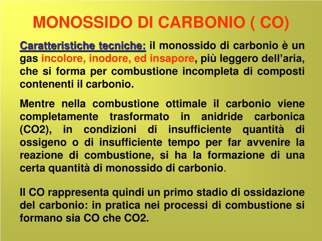 monossido di carbonio co l.