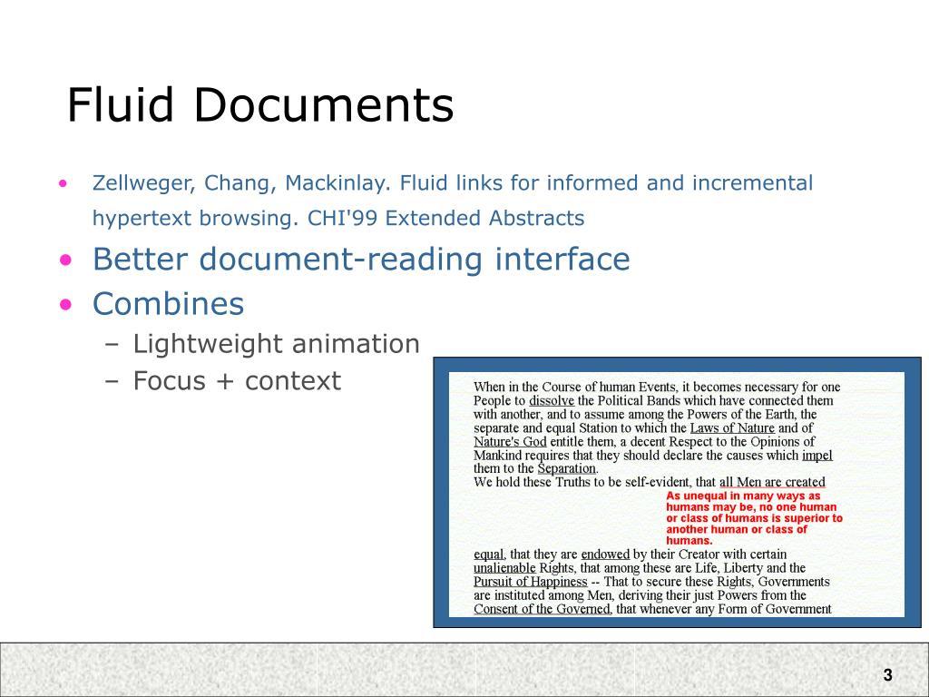 Fluid Documents