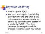 bayesian updating