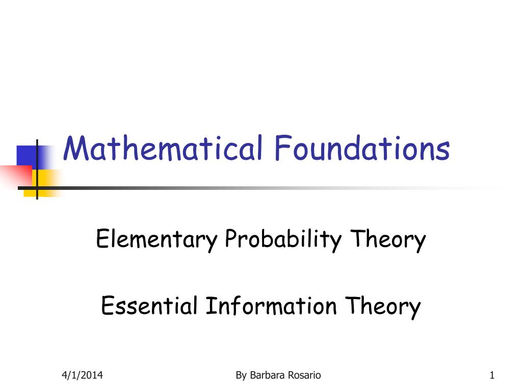 mathematical foundations l.