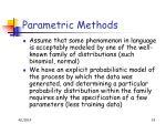 parametric methods